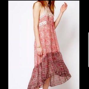 Free people floral crochet festival maxi dress #2